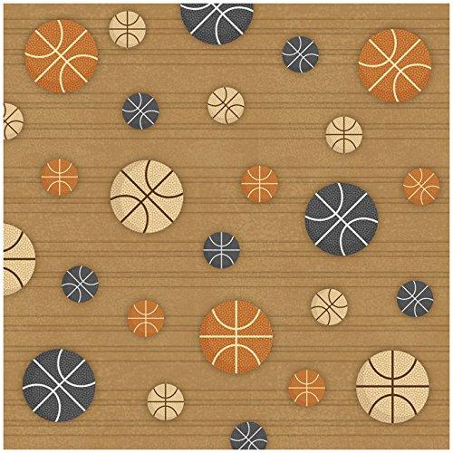 Unbekannt Karen Foster Scrapbooking-Papier, 25 Blatt, Basketball Pattern, 12 x 12 -