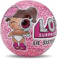 L.O.L. Surprise! LIL Sister Serie 4 Sfera con Mini Doll a Sorpresa, 5 Livelli, Modelli Assortiti