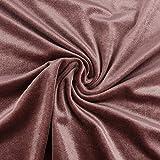 Bekleidungsstoff Samtstoff Stretchsamt einfarbig altrosa
