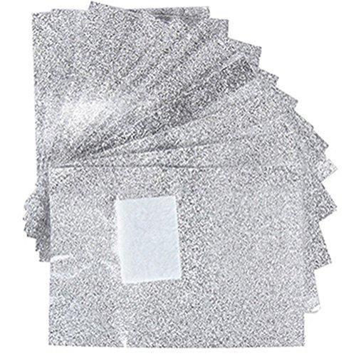 Doitsa 100 Stück Polish Remover Wraps Pads Aluminium Folie zum einfachen Nagellack Entferner Reiniger entfernen von Nagellack (Nagellack-entferner-pads)