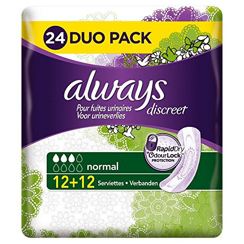 always-discreet-serviettes-normal-pour-fuites-urinaires-et-incontinence-x24