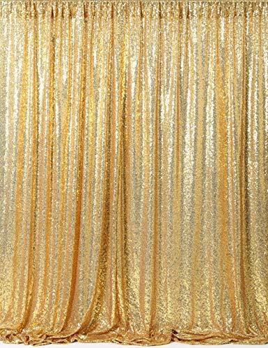 SoarDream goldenes Gewebe mit Pailletten, Hintergrund für Fotografie, Hintergrund mit Pailletten, 1,2m x 2m, gold, 2x7ft-2 ()