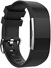 New and Replacement Soft Silicone Strap For Fitbit Charge 2 Heart Rate Smart Wristband
