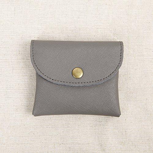 Ultra-dünne Karten Tasche Tasche ändern Schnallen Männer Leder Geldbörse kleine Münze Paket bus Card Cross pattern of gray-King