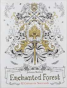 Enchanted Forest 12 Colour In Notecards Colouring Notecards Amazoncouk Johanna Basford