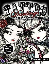 Tattoo Darlings: An Inky Girls Coloring Book