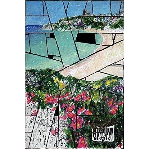 Rena Bianca - by Maudelli. Strip Canvas R - Rena Bianca (Italia) VR-RB-01. Strip di tela dipinta in acrilico e matita in grafite inchiodata sul retro. Telaio in legno, completo di attaccaglia in metallo.