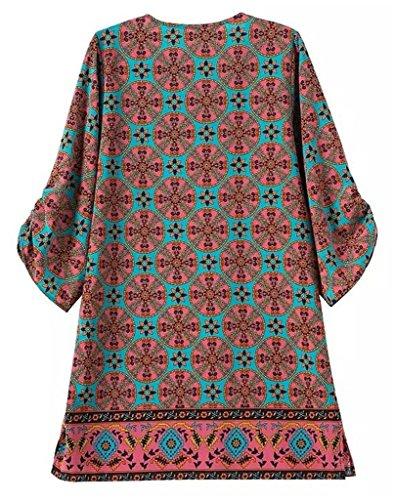 Tailloday Damen Kleid Large Mehrfarbig - E