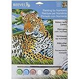 Reeves Malen nach Zahlen 8+Jahre, Tiere 30x23cm, 7 Farben, Motiv - Leopard