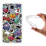WoowCase Doogee Y6 4G Hülle, Handyhülle Silikon für [ Doogee Y6 4G ] Graffiti Funny Farben Handytasche Handy Cover Case Schutzhülle Flexible TPU