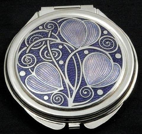Compact Mirror in a Celtic Swirls Design. (Purple)