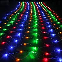 Vectri 3M x 2M LED Net Fairy Lights / LED Night Light / Christmas Decoration Lights / Xmas Wedding Curtain String Lights Ropes/ Garden / Hotel / Festival / Party Decoration Mood Lights / Outdoor Lighting Lamp / Wedding Lights8 Modes (200 LEDs, Multicolor)