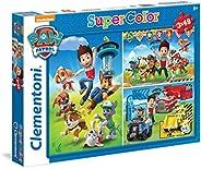 Clementoni - Super Color Puzzle Paw Patrol - 3X48Pcs