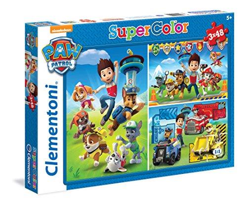 PAW PATROL - Puzzle Supercolor, 3 x 48...