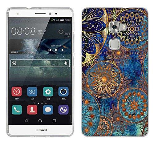 Huawei Mate S hülle, Fubuaoda [Mandala-Kreis] Case Für huawei mate s aus TPU Silikon Handy Schutzhülle
