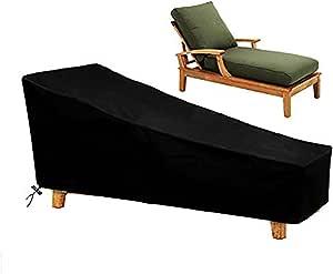 Osarke Copritavolo da Giardino Telo Copertura per Giardino Mobili Tabella Impermeabile Nero 135 x 135x 75cm