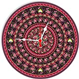 Jikraa Designer Round Glass Wall Clock for Home/Kitchen/Dinning