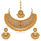 #2: I Jewels Traditional Choker Bridal Necklace Set Jewellery for Women