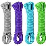 COM-FOUR® 80 Meter Wäscheleine mit Stahldrahteinlage, in verschiedenen Farben