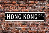 Aersing Hong Kong Decor Geschenk Souvenir Andenken Home Dekoration Schild Metall alunimum Wandschild 45x 10cm