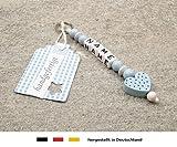 NAMENSANHÄNGER – Anhänger mit Namen | Baby Kinder Schlüsselanhänger für Wickeltasche, Kindergartentasche, Schultasche oder Rucksack mit Schlüsselring | Jungen Motiv Herz in blau