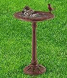 Vogelbad, Vogeltränke mit Fuß 'Zeisig' aus Gusseisen - 3