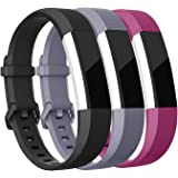 Mornex Bracelet Compatible Fitbit Alta et Fitbit Alta HR,Bracelet de Remplacment en TPU Silicone Réglable Sport Accessoire