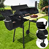 Best Charcoal Smokers - Charcoal BBQ Smoker 113/102/62cm | 2 Chambers Heat Review