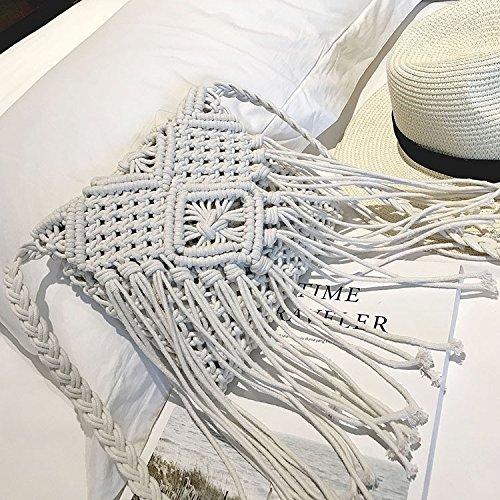 Mefly Single Schultertasche Koreanischer Mode Persönlichkeit Alle-Match Schulter Tide white