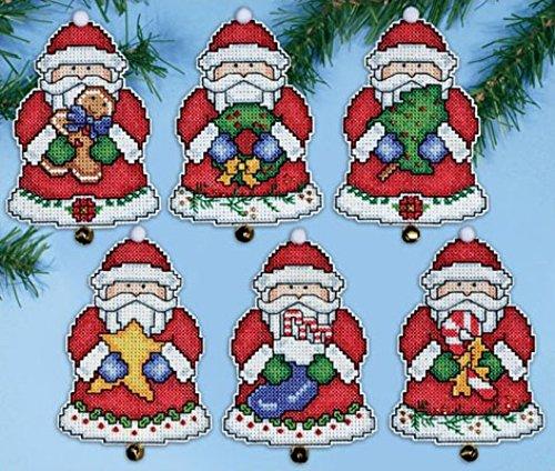 Design Works Kunststoff Canvas Kit–Santa 's gifts Ornaments (Ornament Kit Santa)