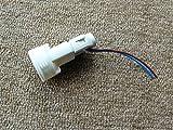 Fassung E14 (anschraubbar mit Zentalschraube) weiß matt, kurzes Außengewinde, Anschlußkabel