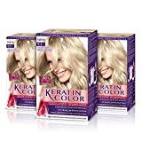 Keratin-Coloración permanente para el cabello, tono 9.1 (pack de 3)