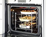 UPP® Ofen-Regal Backofengitter Abkühlgitter Edelstahl stapelbar rechteckig