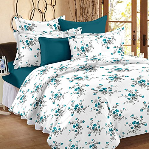 Ahmedabad Cotton Comfort 160 TC Cotton Single Bedsheet with Pillow Cover -...
