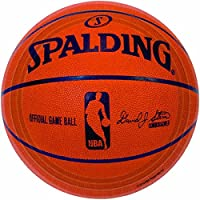 """Spalding Basketball Collection"" 9"" Round, Party Plates"