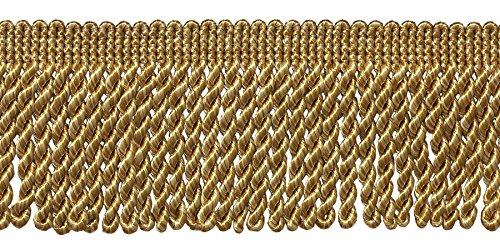 von zwei Ton Gold 6,3cm Edelstahldraht Fransen Rand, Stil # ef25Farbe: 8534(30ft/9Meter) (Zwei Ton-fransen)