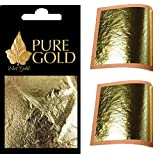 24ct Gold Leaf sheets 10 sheets on base metal