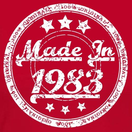 MADE IN 1983 - 34 Geburtstagsgeschenk / Gegenwart T-Shirt Rot
