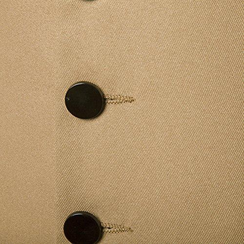 Panciotto Gilet da Uomo Slim Fit Cardigan Waistcoat Casual Blazer Vest Smanicato Giacca Cachi