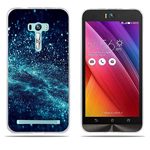 DIKAS ASUS ZenFone Selfie ZD551KL Hülle, Transparent Ultra Slim Tasche Etui Weich Flexibel Crystal Clear Premium TPU Silikon Bumper Schutzhülle für ASUS ZenFone Selfie ZD551KL- Pic: 04