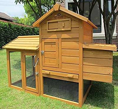Pets Imperial® Clarence Chicken Coop Hen Ark House Poultry Run Nest Box Rabbit Hutch Suitable For Up To 2 Birds - Integrated Run & Cleaning Tray & Innovative Locking Mechanism by Pets Imperial®