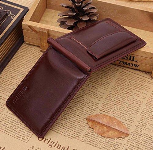 Geldbörsen, Rcool Männer Geldeingang PU Leder Bifold Geldbörse Karte Tasche (Kaffee) Kaffee