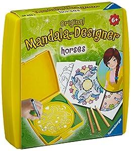 Ravensburger 29986 Mini Mandala Designer ® - Set de Dibujo y diseño temática de Caballos Importado de Alemania