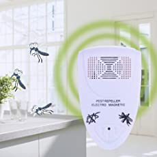 EasyBuy India Black : EU Plug Electronic Ultrasonic Rat Mouse Repellent Indoor Anti Mosquito Insect Pest Killer Magnetic Repeller Rodent Control