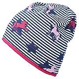 Fiebig - Kindermütze Beanie Sommermütze Jerseybeanie Mädchenmütze Mütze - 87054 (Blau, 45/47)