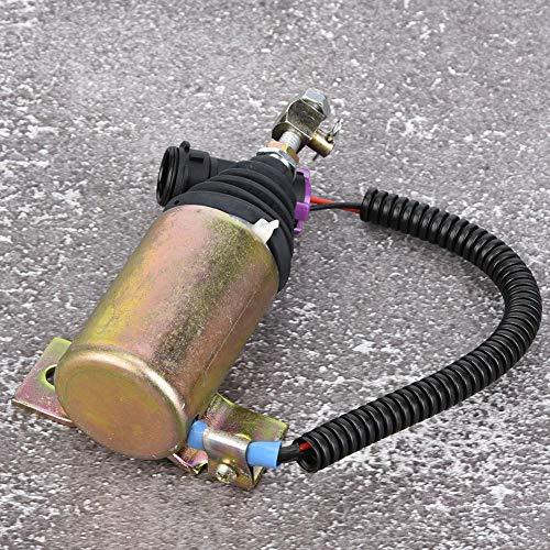 Solenoide de Parada de Combustible de 12 V TOSD-03-001 V/álvula Solenoide de Apagado de Combustible Excavadora de Metal Motor Piezas de Repuesto XHF-1121 E483310000093 Apto para Foton 483 Diesel