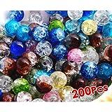 fitTek 8mm Kugel Kristall Glas Perlen Bead Lose Farbig X200