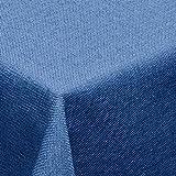Leinen Optik Tischdecke Eckig 110x160 cm Blau · Eckig Farbe & Größe wählbar mit Lotus Effekt - Wasserabweisend