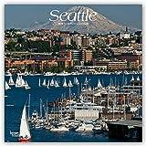 Seattle 2019 - 18-Monatskalender mit freier TravelDays-App: Original BrownTrout-Kalender