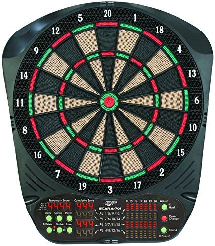 elektronische Dartscheibe Dartboard Scara 701 3-Loch inkl. 6 Roleo Dartpfeile